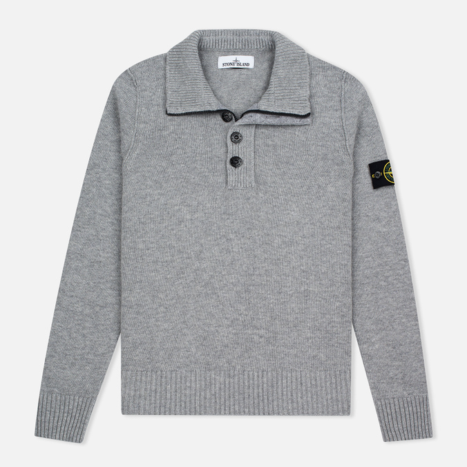 Мужской свитер Stone Island High Collar Grey