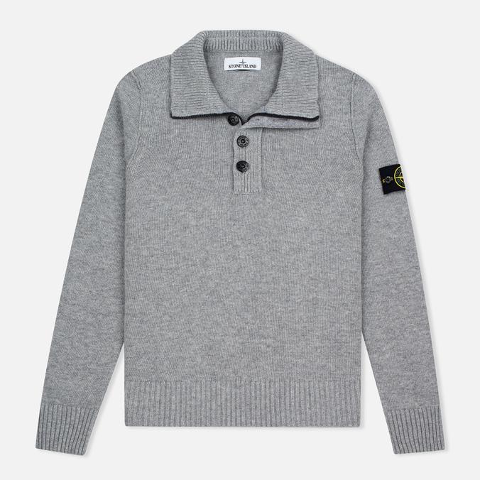 Stone Island High Men's sweater Collar Grey