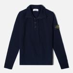 Мужской свитер Stone Island High Collar Navy фото- 0