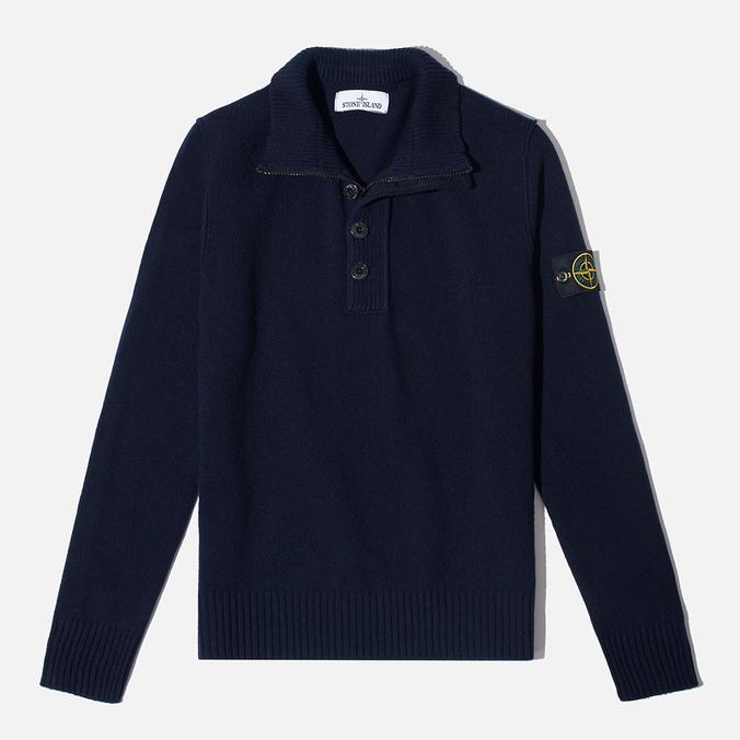Мужской свитер Stone Island High Collar Navy