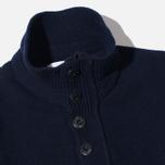 Мужской свитер Stone Island High Collar Navy фото- 1