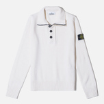 Мужской свитер Stone Island High Collar White фото- 0
