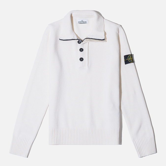 Мужской свитер Stone Island High Collar White