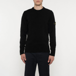 Мужской свитер Stone Island Lambswool Crew Neck Black фото- 5