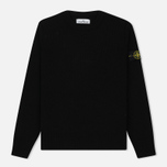 Мужской свитер Stone Island Lambswool Crew Neck Black фото- 0