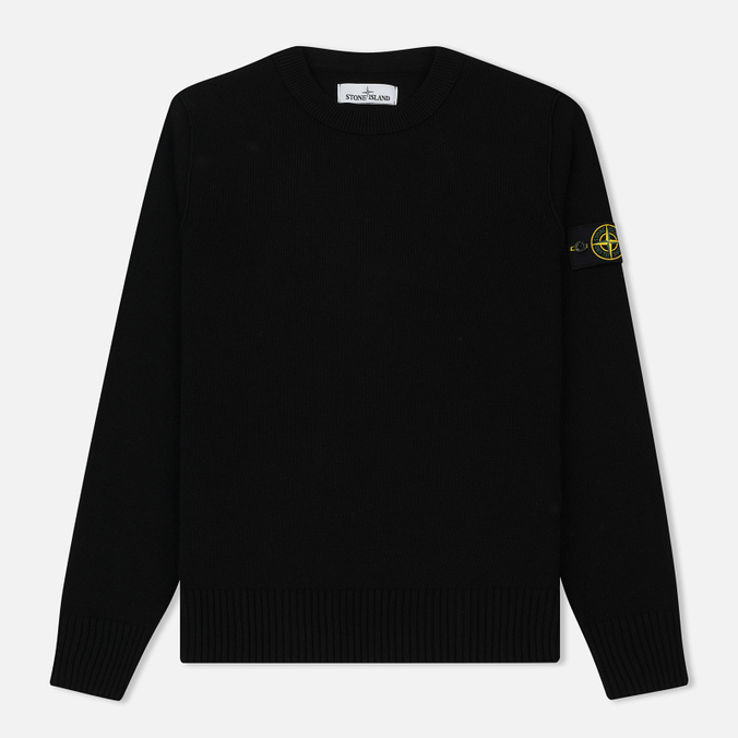 Мужской свитер Stone Island Lambswool Crew Neck Black