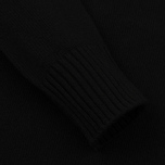 Мужской свитер Stone Island Lambswool Crew Neck Black фото- 2