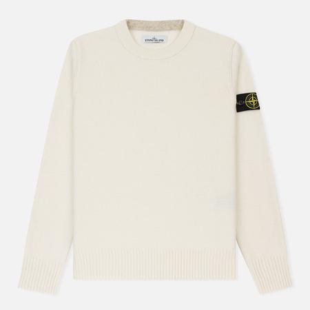 Мужской свитер Stone Island Lambswool Crew Neck Natural White