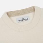 Мужской свитер Stone Island Lambswool Crew Neck Natural White фото- 1