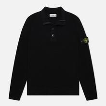 Мужской свитер Stone Island Lambswool High Neck Zip Black фото- 0