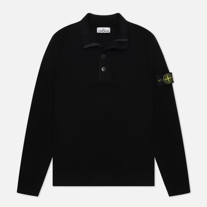 Мужской свитер Stone Island Lambswool High Neck Zip Black