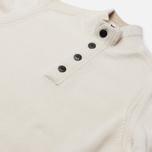 Мужской свитер Stone Island Lambswool High Neck Zip Natural White фото- 1