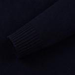 Мужской свитер Stone Island Lambswool High Neck Zip Navy Blue фото- 2