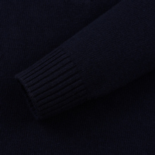 Мужской свитер Stone Island Lambswool High Neck Zip Navy Blue фото- 2