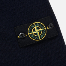 Мужской свитер Stone Island Lambswool High Neck Zip Navy Blue фото- 3