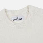 Мужской свитер Stone Island Lambswool Ribbed Crew Neck Natural White фото- 1