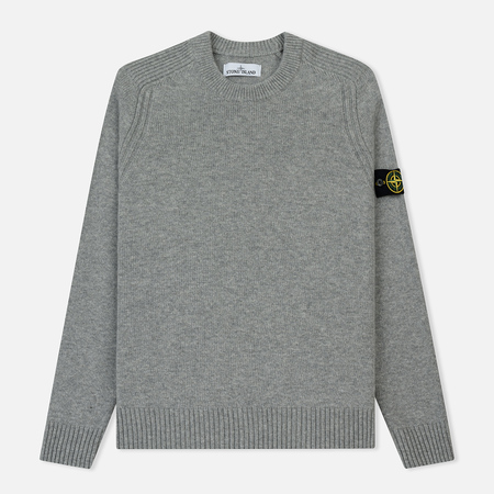 Мужской свитер Stone Island Lambswool Ribbed Crew Neck Pearl Grey