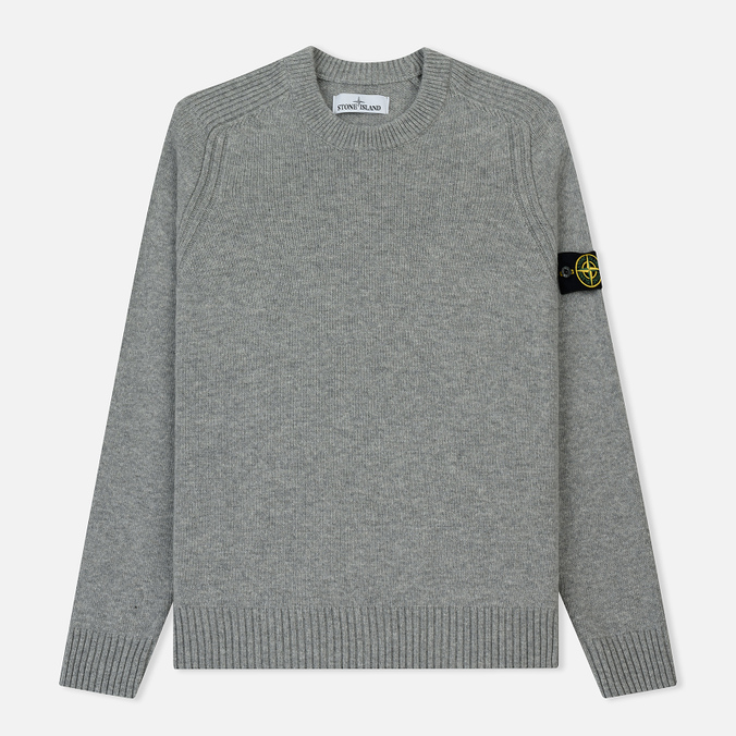 Мужской свитер Stone Island Lambswool Ribbed Crew Neck Pearl Grey