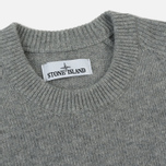 Мужской свитер Stone Island Lambswool Ribbed Crew Neck Pearl Grey фото- 1