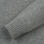 Мужской свитер Stone Island Lambswool Ribbed Crew Neck Pearl Grey фото- 2