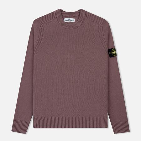 Мужской свитер Stone Island Lambswool Ribbed Crew Neck Pink Quartz