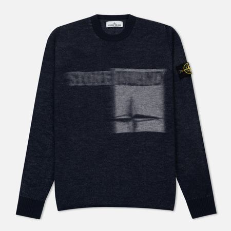 Мужской свитер Stone Island Monochrome Striped Faded Marine Blue
