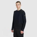 Мужской свитер Stone Island Ribbed Collar Horizontal Garment Dye Black фото- 1