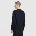 Мужской свитер Stone Island Ribbed Collar Horizontal Garment Dye Black фото- 3