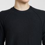 Мужской свитер Stone Island Ribbed Collar Horizontal Garment Dye Black фото- 2