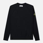 Мужской свитер Stone Island Ribbed Collar Horizontal Garment Dye Black фото- 0