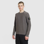 Мужской свитер Stone Island Ribbed Collar Horizontal Garment Dye Blue Grey фото- 1