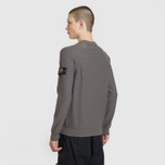Мужской свитер Stone Island Ribbed Collar Horizontal Garment Dye Blue Grey фото- 3