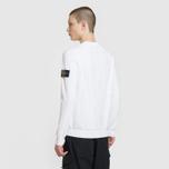 Мужской свитер Stone Island Ribbed Collar Horizontal Garment Dye White фото- 3