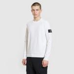 Мужской свитер Stone Island Ribbed Collar Horizontal Garment Dye White фото- 1