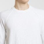 Мужской свитер Stone Island Ribbed Collar Horizontal Garment Dye White фото- 2
