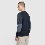 Мужской свитер Stone Island Round Neck Nylon Webbing Black фото- 3