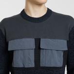 Мужской свитер Stone Island Round Neck Nylon Webbing Black фото- 2