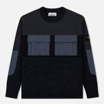Мужской свитер Stone Island Round Neck Nylon Webbing Black фото- 0