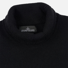 Мужской свитер Stone Island Shadow Project Bicolor Stretch Wool And Alpaca Blend Charcoal фото- 1