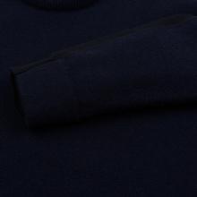 Мужской свитер Stone Island Shadow Project Bicolor Stretch Wool And Alpaca Blend Navy фото- 3