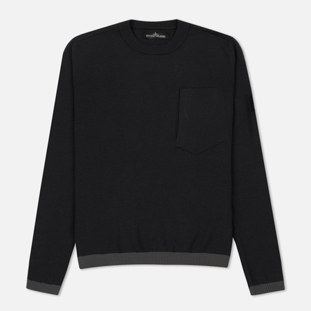 Мужской свитер Stone Island Shadow Project Catch Pocket Crew Neck Anthracite