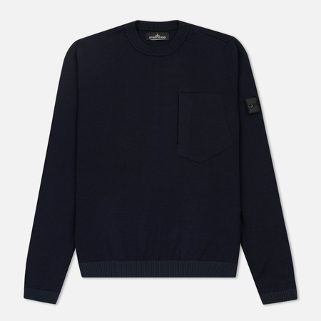 Мужской свитер Stone Island Shadow Project Catch Pocket Crew Neck Navy
