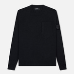 Мужской свитер Stone Island Shadow Project Catch Pocket Crew Neck Virgin Wool/Silk Blend Black фото- 0