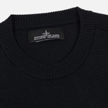Мужской свитер Stone Island Shadow Project Catch Pocket Crew Neck Virgin Wool/Silk Blend Black фото- 1