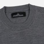 Мужской свитер Stone Island Shadow Project Catch Pocket Crew Neck Virgin Wool/Silk Blend Dark Grey фото- 1