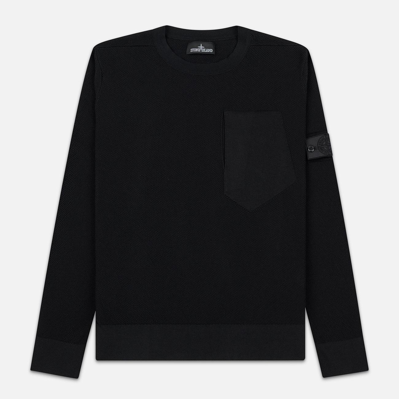 Мужской свитер Stone Island Shadow Project Chest Patch Pocket Black