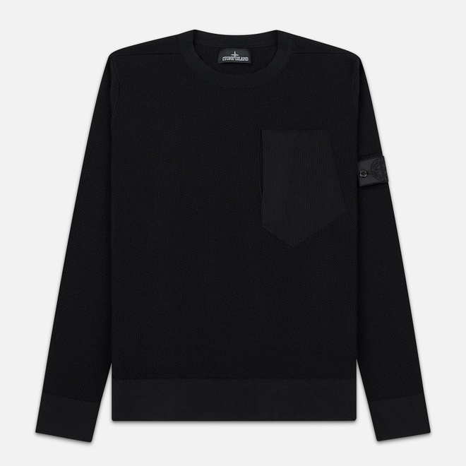 Мужской свитер Stone Island Shadow Project Chest Patch Pocket Black