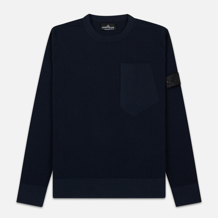 Мужской свитер Stone Island Shadow Project Chest Patch Pocket Navy