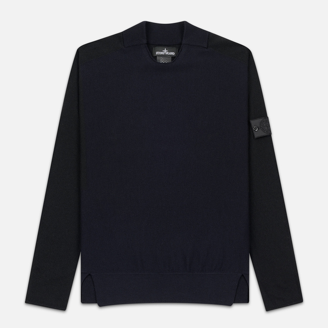 Мужской свитер Stone Island Shadow Project Contrast Crew Neck Navy