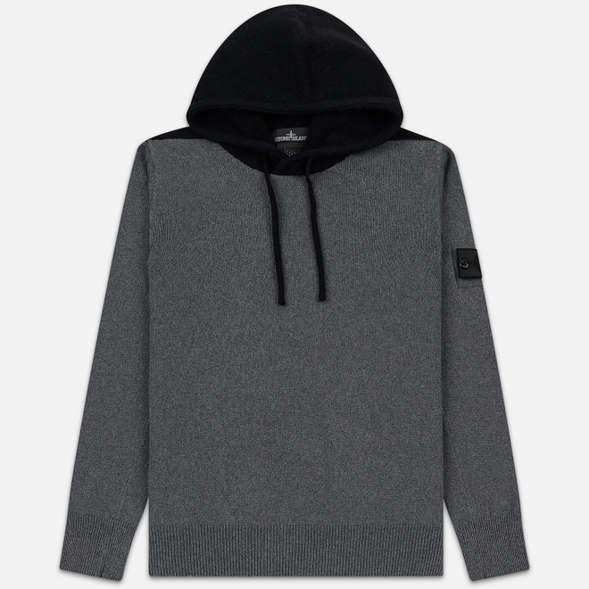 Мужской свитер Stone Island Shadow Project Contrast Hoodie Charcoal